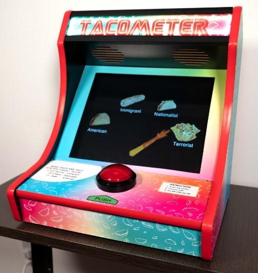 """Tacometer"", 2019, Arcade game."